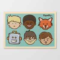 equality Canvas Prints featuring Equality by Dude Poncio