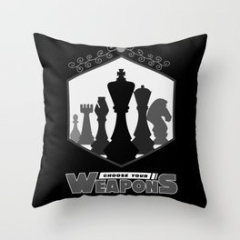 Chess, Chess Chess player, Chess Gift Throw Pillow