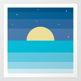 moonrise Art Print
