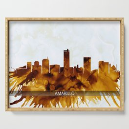 Amarillo Texas Skyline Serving Tray