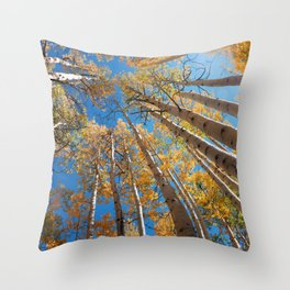 Aspen Trees Against The Sky In Crested Butte, Colorado for #Society6 Throw Pillow