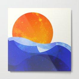 Sun in the Dunes Metal Print