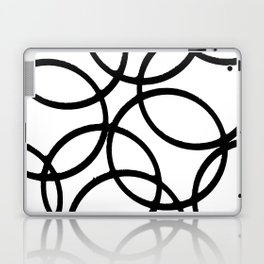 Interlocking Black Circles Artistic Design Laptop & iPad Skin