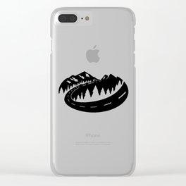 Cascade Camper Stealth Logo Clear iPhone Case