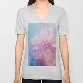 Purple Quartz Crystal Unisex V-Neck