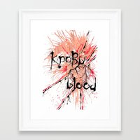 there will be blood Framed Art Prints featuring Blood by OnaElena