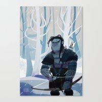 archer Canvas Prints featuring Archer by ötzee