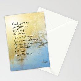 Serenity Prayer Pond Reflections Stationery Cards