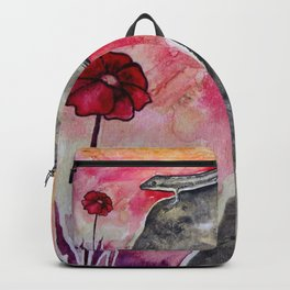 LIZARD FLOWER LOVE Backpack