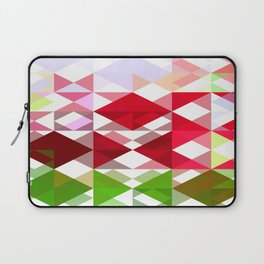Red Rose Edges Abstract Triangles 1 Laptop Sleeve