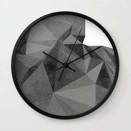 Concrete Polygonal texture Wall Clock