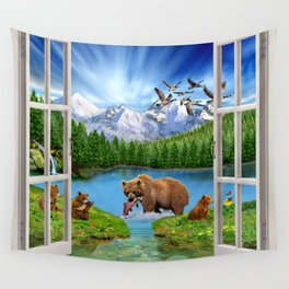 Window to the Great Bear Wilderness Wall Tapestry