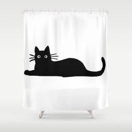Black Cat Cute Shower Curtain