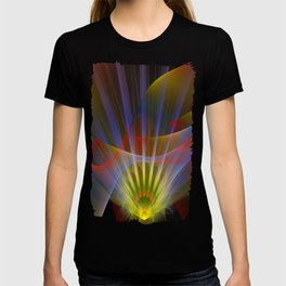 Inner light, spiritual fractal abstract T-shirt