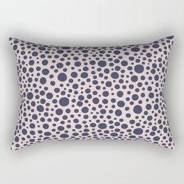 Hand drawn polka dot pattern - Navy Rectangular Pillow