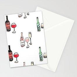 #DrinkWineDay Pattern Stationery Cards