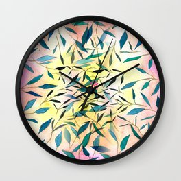 Ordinary Leaf (ombre) Wall Clock