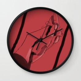 Main dans la main Wall Clock