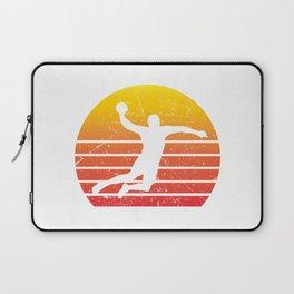 Handball Retro Vintage Player Coach Fan Gift Idea Laptop Sleeve