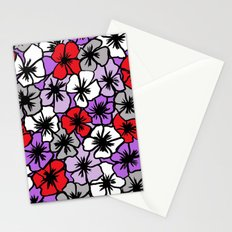 Flower Power (red purple version) Stationery Cards