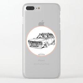Crazy Car Art 0186 Clear iPhone Case