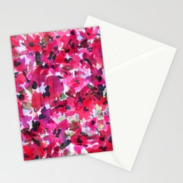 Red Poppy Plaid Stationery Cards
