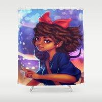 kiki Shower Curtains featuring Kiki by RSArts