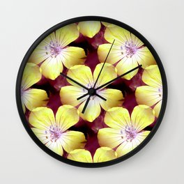 Summery Yellow.... Wall Clock