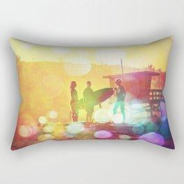Old School Dawn Patrol Surf Rectangular Pillow