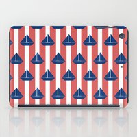sailboat iPad Cases featuring SAILBOAT by ovisum