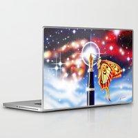 madoka magica Laptop & iPad Skins featuring MAGICA by AM Santos