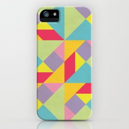Colorful Tangram Pattern iPhone Case