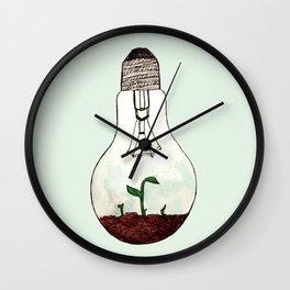 lightbulb terrarium Wall Clock