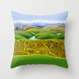 The Lie of the Land: Tararua Throw Pillow