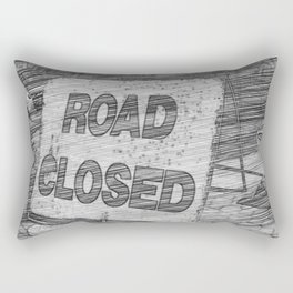Road Closed Rectangular Pillow