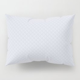 White Wedding Puffy Stitched Quilt With Hint of Blue Pillow Sham
