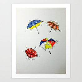 Brolly Art Print