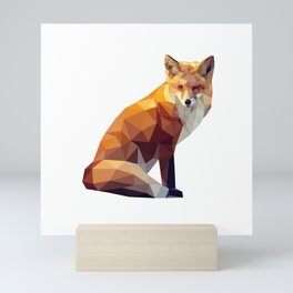 Geometric fox Mini Art Print