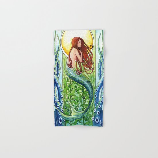 Kelp Forest Mermaid Hand & Bath Towel