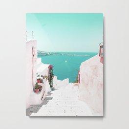Santorini Sea Metal Print