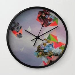 Mineral Fracture Wall Clock