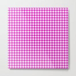 Friendly Houndstooth Pattern, pink Metal Print