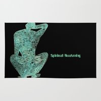 spiritual Area & Throw Rugs featuring Spiritual Awakening by Margarita Mascaro