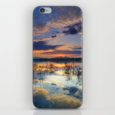 Magic reflections. Sunset at the lake iPhone & iPod Skin