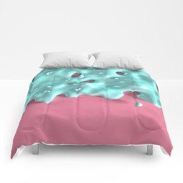 Pastel Mint Slime Comforters