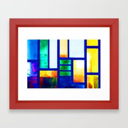 Art Deco Colorful Stained Glass Framed Art Print
