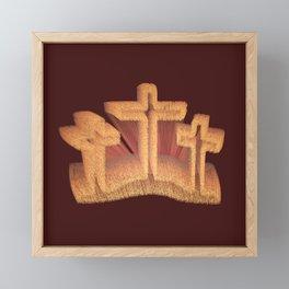 Three Crosses at Calvary Framed Mini Art Print