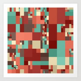 pastel mosaic colors Art Print