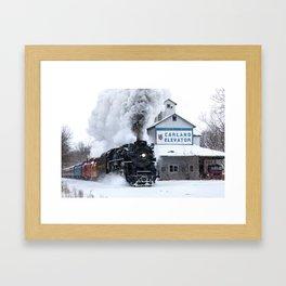 Polar Express! Pere Marquette 1225 Steam Engine Framed Art Print