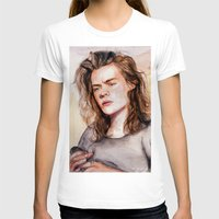 coconutwishes T-shirts featuring Harry watercolors III by Coconut Wishes